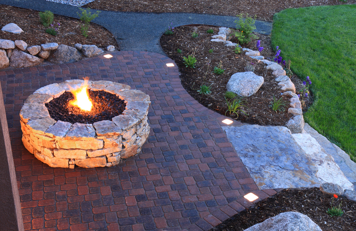Fire Pit And Backyard Patio